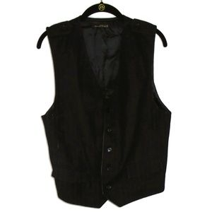 Zara Man Dress Vest Faded Pinstripe Mens XL